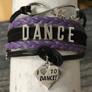 Girls Dance Bracelet - Purple & Black
